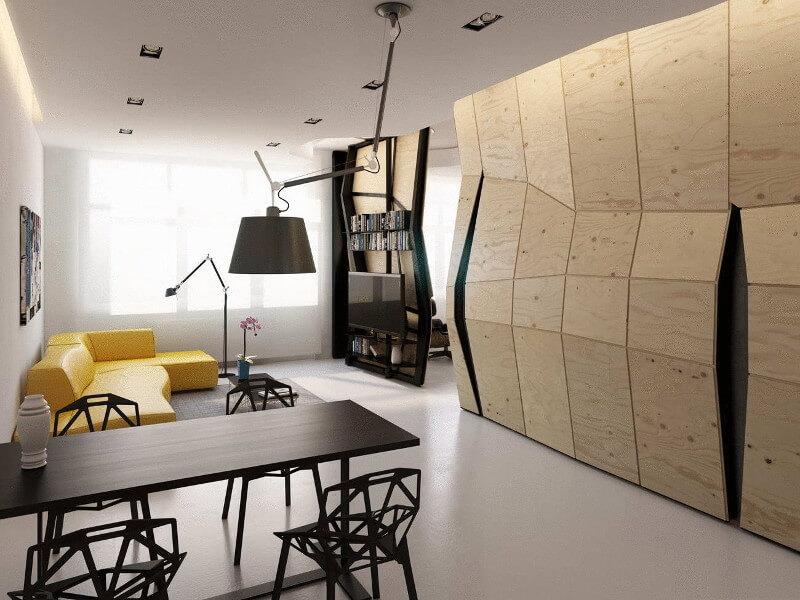 Ellipse Art. Студия дизайна интерьеров Квартира трансформер – оригинальное решение насущных проблем