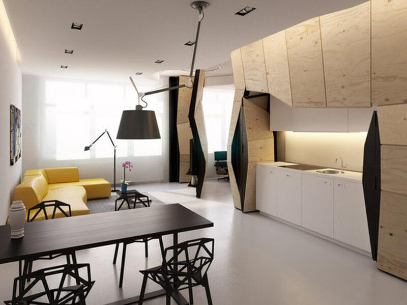 Ellipse Art. Архитектурное бюро в Москве. Студия дизайна интерьеров Квартира трансформер – оригинальное решение насущных проблем